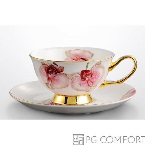 Royal Orchid teáscsésze és csészealj